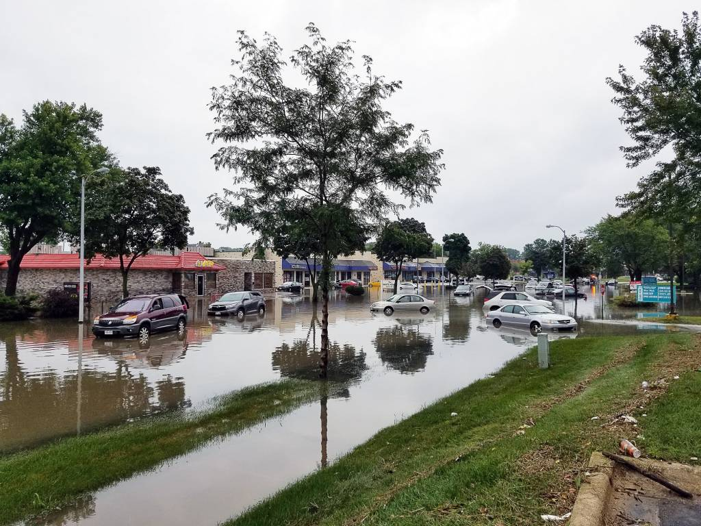 town flooding